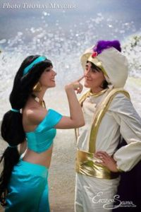 To be fair, I think Jasmine knew it was Aladdin the whole freaking time. I mean Aladdin's disguise was just blatantly obvious.