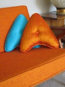 Well, as long as your couch is shiny bright orange. Then again, these would've gone great with any furniture from the original series.