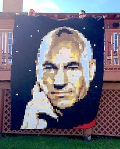 Man, that really looks like him. Wonder how long it took to make that. Guess Sir Patrick Stewart would be proud.