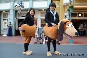 You know Slinky Dog from Toy Story? Yeah, this is a really cool costume of him if you ask me.