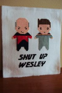 Thank you, Captain Picard, for doing us a great service by telling Wesley to shut up. That kid is annoying as hell.