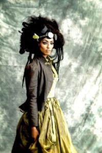 Sure she looks very pretty in her steampunk attire. But in the 19th century, many people wouldn't find her hairstyle acceptable by any means.