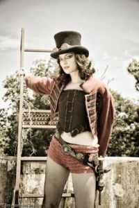 Now this is quite scantily clad. But you can get this a lot when looking for steampunk costumes for a blog post.