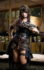 Seems to have a lot of gears on her tool bet. And yes, that revolver looks quite large if you ask me.