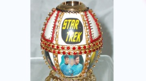 Yes, this exists. Not sure what makes Star Trek appropriate for a Faberge egg. But I'm sure some rich Trekkie would buy it.