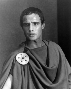 "Mark Antony: ""Friends, Romans, countrymen, lend me your ears;/I come to bury Caesar, not to praise him./The evil that men do lives after them;/The good is oft interred with their bones;/So let it be with Caesar. The noble Brutus/Hath told you Caesar was ambitious:/If it were so, it was a grievous fault;/And grievously hath Caesar answer'd it./Here, under leave of Brutus and the rest, —/For Brutus is an honorable man;/So are they all, all honorable men, —/Come I to speak in Caesar's funeral./He was my friend, faithful and just to me:/But Brutus says he was ambitious;/And Brutus is an honorable man."" - Act III, Scene 2"