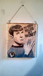 Okay, he actually didn't say it. But it makes a great wall hanging nevertheless. Like his hand sign.
