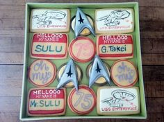 George Takei received these cookies for his 75th birthday from a bakery. Quite nice of them since I found this on Pinterest.