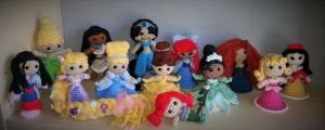 Well, these are only some of the Disney princesses. But I have to admit these are really adorable.