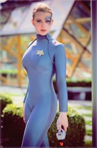 Not bad looking for someone who's been assimilated by the Borg and survived. Then again, she was probably Voyager's resident fanservice personnel.