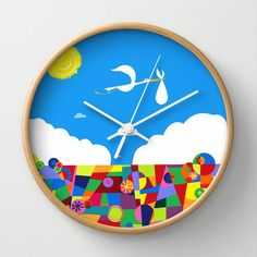 Because this is a clock from Up. Love how they used balloons for the bottom part of the face.
