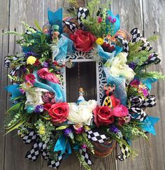 Yes, this is a wreath from Alice in Wonderland. But you have to like what's in the center.