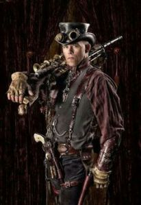 And I see the man has a pistol and rifle just in case. Not sure if he's Victorian or from a western though.