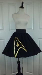 Sure it might not go with any Starfleet uniform. But I'm positive those at the Trekkie convention would love it.