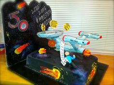 Well, it seems to be the Enterprise surrounded by space, the final frontier. Not sure if the Enterprise is edible on this though.