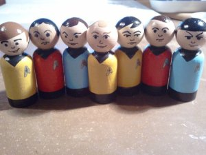 Yes, these are peg people of the original Star Trek cast. Or at least the ones people cared about.