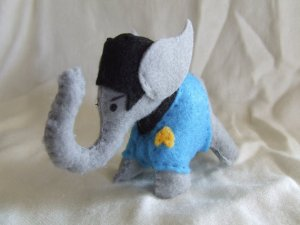 Because elephants have remarkable memory. Vulcan elephants have an astounding memory and sense of logic. So this Spock elephant should be superb.