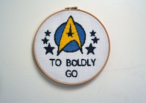 Well, this looks rather well done. The Starfleet logo and stars look quite intricate and everything.