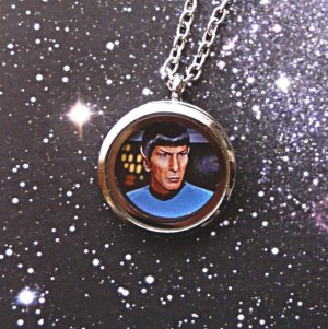 Helps that the Spock on this is painted. Also like the frame and chain.