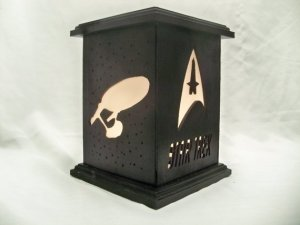 Okay, not really but it's sure a cool lantern you can find on Etsy. Also makes a great outdoor decoration.
