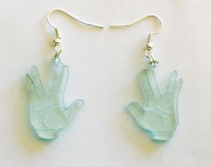 Yes, this pair contain the Vulcan hand sign. Not sure if any Vulcans have such earrings though.