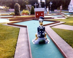 Then again, seeing Donald at a mini golf course like this might make you wonder whether he wants to murder you in your sleep. Not to be critical.