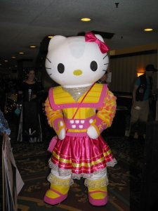 I know it's kind of a weird mashup since Hello Kitty doesn't seem to live to Klingon warrior preferences. Still, this is funny.