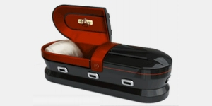 This was inspired by Spock's coffin that was launched in space after he died in Wrath of Khan. Still, I'm not sure if even a die hard Trekkie would buy this or afford it.