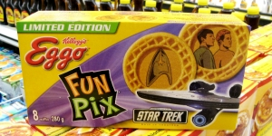 Eggo issued these in 2009 when the first reboot Star Trek came out. Of course, let go of Spock's Eggos or you'll find yourself on the receiving end of a Vulcan nerve pinch.