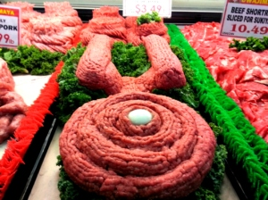 I think this is an Enterprise meat sculpture. So unfortunately, it's not for eating and won't help you live long and prosper.