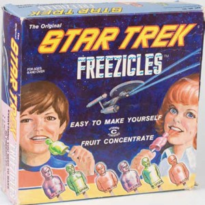 Because nothing says summer fun like freezing and eating fruity versions of your favorite Star Trek characters. Also, the kids look kind of creepy on the packaging.