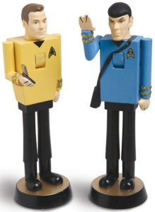 Yes, these are Kirk and Spock nutcrackers. But their existence tends to defy logic other than the incentive to make money that is.