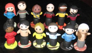Includes characters from TNG and the original series. And yes, they're all equally adorable.