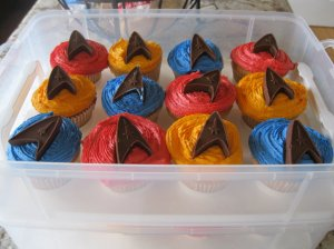 Because they come in all 3 uniform colors and have chocolate Starfleet insignia. But I like them anyway.