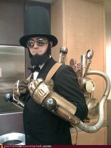 However, most steampunk works usually take place after he died. Nevertheless, this is a pretty cool costume.