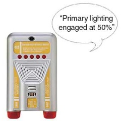 For those who like to imitate Picard's commands as well as are too lazy to use a light switch. Available at Klear Gear.
