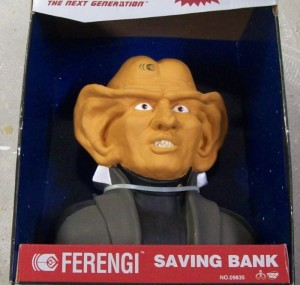 However, if you're traveling through space, remember to never put your money in a Ferengi bank. Seriously, these guys are known for being greedy and you won't get your money back.