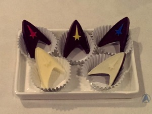 Yes, these are Star Trek chocolates. And yes, some are sure to find them awesome.