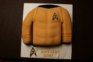 For we all know that Kirk has rock hard abs. And once he gets in trouble on the planet, the shirt comes off.