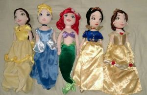 For Disney princess dolls and plushies, these are utterly creepy. And no, I don't think the Disney princess franchise is about that.