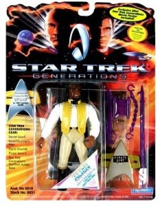 "From The Robot's Voice: ""Based on Star Trek: Generations' holodeck scene in which Worf is promoted to Lieutenant Commander, this figure has everyone's favorite ornery Klingon dressed up in 19th century nautical attire–which is really stupid since there's clearly no honor in looking like a jackass."""