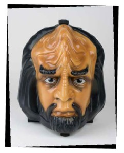 So carrying your lunch in Worf's head that also talks. Now that's disturbing. Wonder what sadistic bastard came up with that idea.