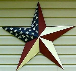 You can find stars like this anywhere they sell outdoor decor. But I like how this one is painted. Lovely.
