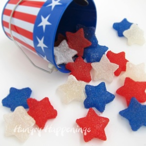 I'm not a fan of gumdrops. But since these are red, white, and blue stars, they go on this post.