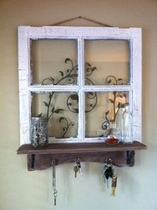 Even if it's a small window. And the shelf is a convenient place to store your keys.