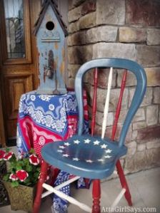 And you can sit your ass on there whenever you'd like on the 4th of July. Still, remember Betsy Ross didn't design the first American flag. Honest she didn't.