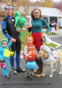 Yes, this is a Finding Nemo family. And it seems the parents are a diver and Darla. Like the dog shark.