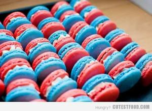 Well, they have red and blue sandwiches with white icing. But they're probably just as sickeningly sweet as macarons are.