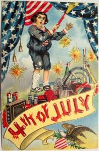 I know that kid is supposed to be in awe of the fireworks. But I think he's practically shitting his pants at the moment because he's surrounded by explosives. Assuming that he's actually sane.