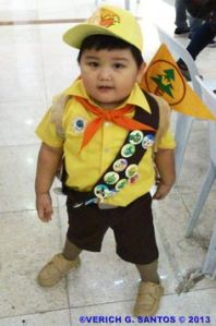 And what an adorable Wilderness Explorer he makes. He also has most of his badges, too.
